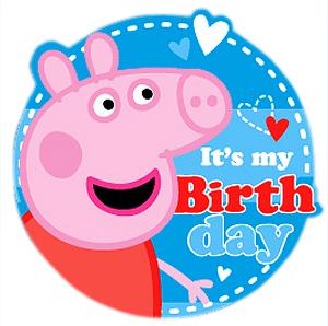 Peppa Pig Happy Birthday Games Cake