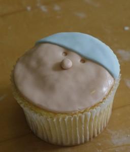 Beanie on the cupcake