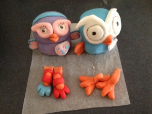 Hoot Cake Toppers