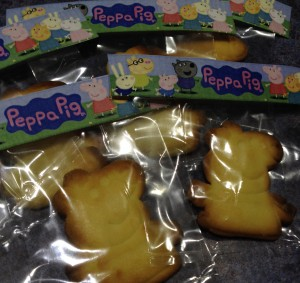 Peppa cookies also went into loot bags